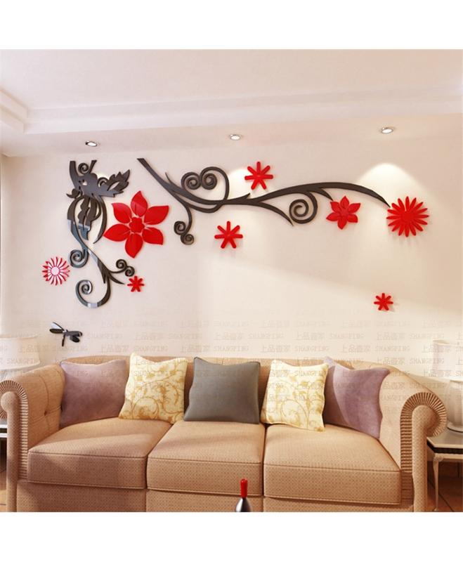 buy 3d flower stereo crystal wall stickers online in pakistan