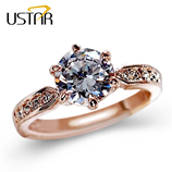 175 CT AAA Zircon Rose Gold Ring