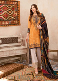 3PC Embroidered Linen Suit with Wool Shawl with Patchwork P3
