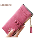 Assez Aac Baby Pink PU Leather Ladies Wallet
