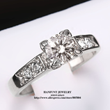 Austrian Crystal  Sliver Color Cubic Zirconia Rhinestone Ring