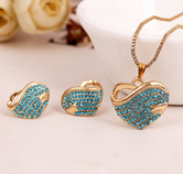 Austrian Crystal Gold Plated Heart