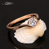 Austrian Cubic Zirconia Rose Gold Color Ring