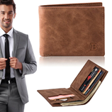 BABORRY Brown Coin Bag Zipper Wallet