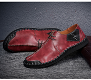 BIMUDUIYU Fashion Brand Wine Red Moccasins Leather Shoes