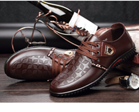 BIMUDUIYU Luxury Brand  Men Casual Soft Leather Lace-up Shoes