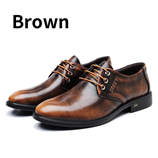 BIMUDUIYU Luxury Genuine Leather Round Toe Shoes