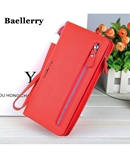 Baellerry Red Zipper Long Ladies Wallet