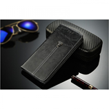 Black Wallet Card Holder Luxury PU Leather Case For iPhone