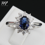 Blue Crystal Color Austria Genuine Crystal Ring
