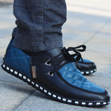 British Style Men Breathable Lace Up Casual Shoes