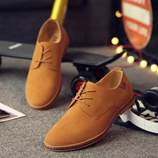 Brown Handmade Soft Leather Flat Casual Shoes