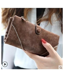 Brown Retro Matte Stitching Leather Wallet