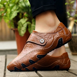 Brown Strap British Style Leather Loafers