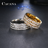 CACANA Titanium Stainless Steel Rings