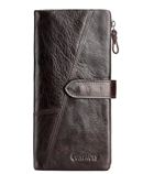CONTACT Genuine Crazy Horse Long Leather Men Wallet
