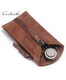 CONTACTS Brown Leather Key Wallet