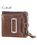 CONTACTS Brown Removable Card ID Holder Leather Wallet