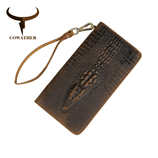 COWATHER Alligator Style Brown Leather Wallet AT-520
