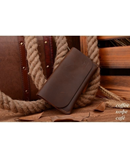COWATHER Brown Crazy Leather Purse Wallet