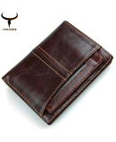 COWATHER Cross Coffee Stylish Leather Wallet AT-422