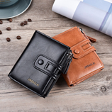 COWATHER Stylish Leather Short Wallet AT 3473