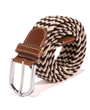 Canvas Webbing Metal Buckle Woven Stretch Belt AT-583