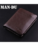 Choco Brown ITALIAN Leather Tri-Fold Pocket Wallet