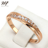 Classic Cubic Zirconia Rose Gold Ring