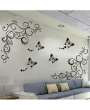 Classic black Butterfly Flower Wall Sticker AT-582