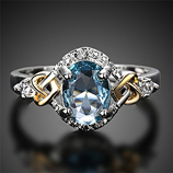 Crystal Stone Wedding Engagement Ring