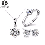 Cubic Zircon Silver Fashion Jewelry Set