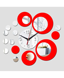 DIY Acrylic Black and Red Rounds Wall Clock AR-784