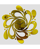DIY Golden Mirror Effect Acrylic Wall Clocks AR-987