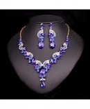 Dark Blue Crystals Jewelry Set