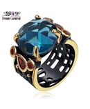 DreamCarnival Big Blue Solitaire Ring