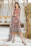 EMBROIDED 3PC LINEN DRESS WITH PRINTED SHAWL P7