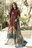 EMBROIDED 3PC LINEN DRESS WITH PRINTED SHAWL P9