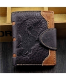 Eagle Engraved Design Leather Wallet