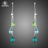 Elegant Charm With 3 pcs Stellux Austrian Crystal Drop Earrings