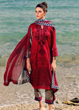 Embroidered Lawn 3PC Suit With Chiffon Dupatta P8
