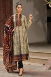 Embroidered Lawn 3PC Suit With Chiffon Dupatta