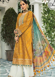 Embroidered Linen 3PC Suit With Chiffon Dupatta P10