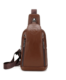 FEIDIKABOLO Brown Chest Rucksack Leather Bag
