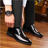 G-Bird Brand Black Formal Shoes