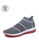 Grey Breathable Running Sneakers Sport Shoes