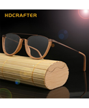 HDCRAFTER Semi Rimless Wood Optical Frame AT-1821