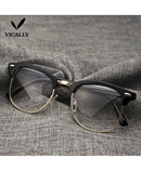 Half-Frame Glasses Optical Frame AT-482