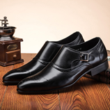 Italian Handmade Double Monk Strap Buckle Shoes