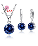JEXXI Charm 925 Sterling Silver Zirco Jewelry Set